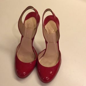 Christian Louboutin red patent leather heels
